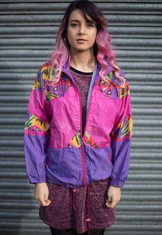 Vintage+80's+Windbreaker+Jacket