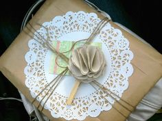 That's a wrap! I love the paper doily idea.