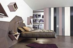 A suspended bed would give a very clean look.