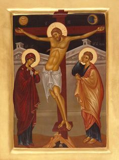 Calvary - The Crucifixion of The Lord Images Of Christ, Religious Images, Religious Icons, Religious Art, Monastery Icons, Church Icon, Religion, Best Icons, Byzantine Art