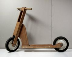 Vintage Hand-made Wooden Scooter DIY Popular Mechanics Toy image 0