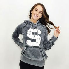UNISEX - Michigan State Faded Grey Hoodie