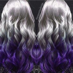 Sliver to purple hair