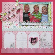 Oh My Darlings - Scrapbook.com - #scrapbooking #layouts #purplecowsincorporated