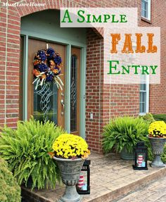 Create a Simple Fall Entry that will impress your visitors and still keep you on budget! | mustlovehome.com