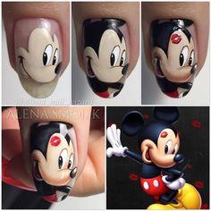 Funky Nail Art, Funky Nails, Disney Nail Designs, Nail Art Designs, Holiday Nails, Christmas Nails, Cartoon Up, Sculpted Gel Nails, Uñas Fashion