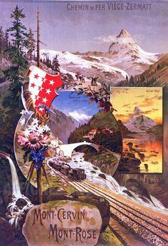 Viege-Zermatt - Mont Cervin Rairoad, Switzerland. Artist: F. Hugo d'Alési.