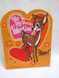 Retro Deer Valentine by LaceSurplus on Etsy, $4.25