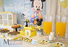 Baby Mickey 1st Birthday Sweet/Dessert Table. Sweets, design, styling and pictures by Masterpiece Of Cake.