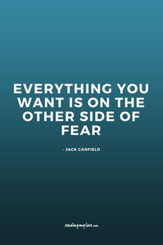 Everything You Want Is On The Other Side Of Fear. Find quotes, relationship advice and gift ideas: www.sending-my-love.com - Long distance Relationship quotes, LDR quotes