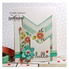 #Spellbinders designer: Michelle Woerner created this #hello card feat. our Baby Buntings die set!