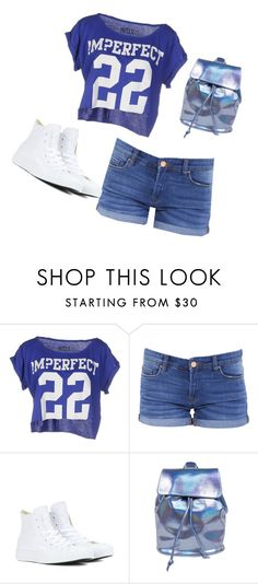 """""""Untitled #875"""" by sylviabunny ❤ liked on Polyvore featuring !M?ERFECT, BLANKNYC and Converse"""