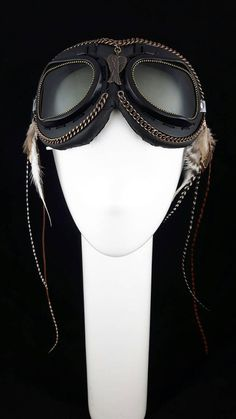 Burning Man Mad Max style Steam Punk Goggles by StarCreationsCa