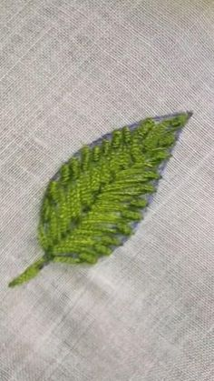 Types Of Embroidery Stitches, Ribbon Embroidery Tutorial, Hand Embroidery Patterns Flowers, Hand Embroidery Videos, Embroidery Flowers Pattern, Learn Embroidery, Silk Ribbon Embroidery, Hand Embroidery Designs, Embroidery Leaf