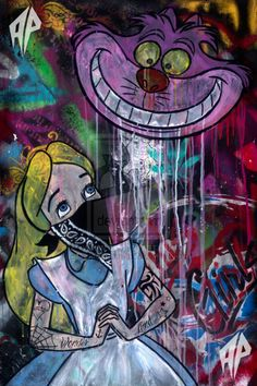 Alice in wonderland graffiti art✨✨✨ Art Prints, Psychedelic Art, Disney Art, Art, Graffiti Art, Street Art Graffiti, Pop Art, Punk Disney, Alice In Wonderland