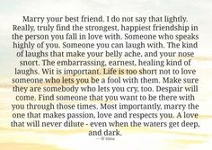 Marry Your Best Friend!