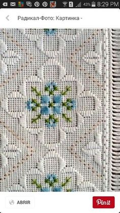Discover thousands of images about Fobmania (Hardanger) Cross Stitch Borders, Cross Stitch Flowers, Cross Stitch Patterns, Crochet Patterns, Doily Patterns, Dress Patterns, Bargello Needlepoint, Needlepoint Stitches, Needlework