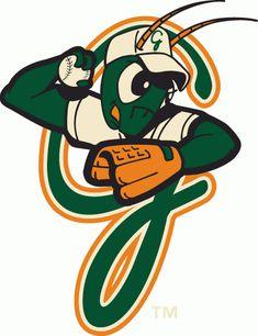 Greensboro Grasshoppers Cap Logo on Chris Creamer's Sports Logos Page - SportsLogos. A virtual museum of sports logos, uniforms and historical items. Sports Team Logos, Sports Art, Sports Banners, Sports Teams, Milb Teams, Baseball Teams, Team Mascots, Minor League Baseball, Car Bumper Stickers