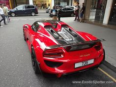 Porsche 918 Spyder spotted in London, United Kingdom