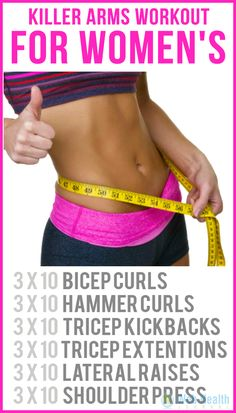killer arms workout for women's : June 15 26 <3