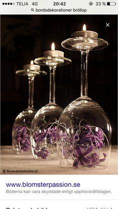 table decorations tips (Diy Candles Wedding) # table decorations Wine Glass Centerpieces, Wedding Centerpieces, Wedding Table, Wedding Decorations, Table Decorations, Wedding Ideas, Trendy Wedding, Garden Wedding, Wedding Reception