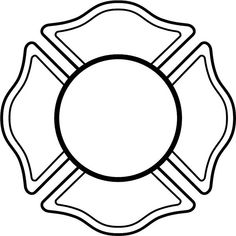 fireman badge pattern use the printable outline for crafts