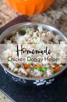 Simple and Inexpensive Homemade Chicken Doggy Helper The Everyday Dog Mom Food Dog, Make Dog Food, Puppy Food, Food Baby, Food For Dogs, Dog Biscuit Recipes, Dog Treat Recipes, Dog Food Recipes, Thai Recipes