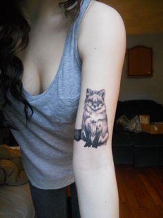 A fox tattoo.