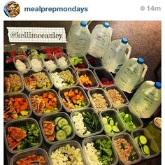 Meal Prep Inspiration!!! Photo by christinemichelle__ I like the gallon idea..
