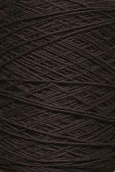 Thin Felted Wool Yarn in Chocolate