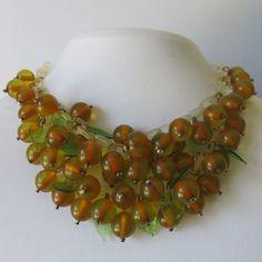 Vintage Apple Juice Bakelite necklace