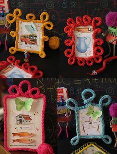 Des cadres en tricotin - Marie Claire Idées