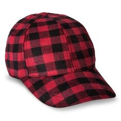 Women s Plaid Hat - Red Black Plaid Flannel ea40bd178728