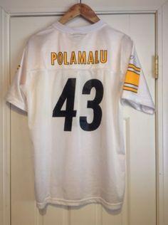 215b50932 Troy-Polamalu-Pittsburgh-Steelers-Super-Bowl-43-Reebok-Jersey-Youth-XL-18-20