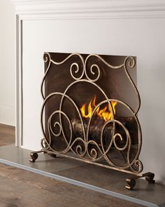 Lyrical Fireplace Screen Architectural Landscape Design