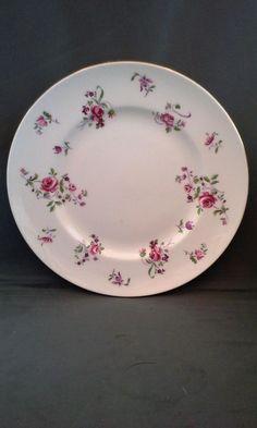Royal Victoria Pink Roses Floral Bone China Salad Plate
