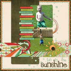 Fun in the Sunshine- Kit: You're Amazing from Wendy Tunison Designs, Temptations Vol. 20 from Wendy Tunison Designs.