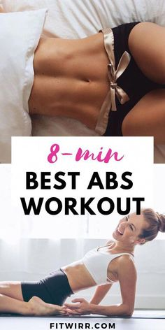 8-min best abs workout to tone your abs and get a defined stomach. Don't let your busy schedule get in the way of keeping your workouts. It only takes 8 minutes a day at home to tone the abs and lose your belly fat.  #tonedabs #abworkout #abexercises #homeexercises #fitness #8minabs #fitwirr #absworkoutathome12weeks
