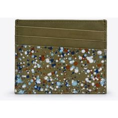 Maison Margiela Credit Card Holder ($255) ❤ liked on Polyvore featuring men's fashion, men's bags, men's wallets, military green and mens credit card holder wallet