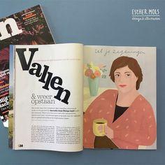 Editorial illustrations for a Dutch women magazine ZIN magazine. #editorialillustration
