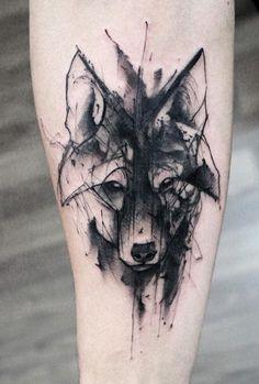 Kamil Mokot wolf tattoo