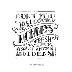 Let's look at mondays from a different angle! ;-) #positivethinking #lettering #handmade #handdrawn #handdrawntype #handdrawnfont #handlettering #typography #type #ilovetype #illustration #drawing #sketch #monday #paperfuel