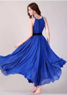 Royal Blue Long Evening Wedding Party Dress Lightweight by LYDRESS