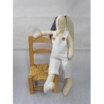 Conejo de tela Harry Pantalón blanco.