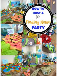 SavingSaidSimply.com: How To Host DIY a Finding Nemo Party - Decor, Food and more #DisneySide #FindingNemo #Disney