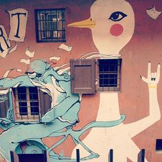 Spotted: Rock 'n Roll goose with open window throat ;-) #blogville #streetart - Instagram by @blackdotswhitespots