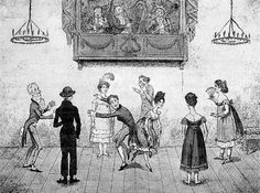 """Accidents in Quadrille Dancing"", 1817 caricature"