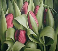 """Mia Tarney: """"Purple Tulip II"""", 2004. Oil on linen"""