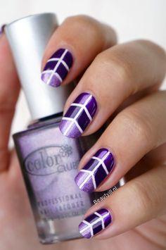 DIY Nail Art | Taped Purple ~ Beautyill | Beautyblog met nail art, nagellak, make-up reviews en meer!