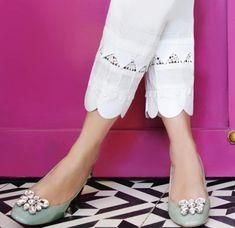 Kurti Sleeves Design, Sleeves Designs For Dresses, Kurta Neck Design, Dress Neck Designs, Blouse Designs, Kurti Designs Party Wear, Salwar Designs, Salwar Pants, Salwar Pattern